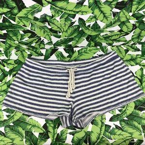 5 for $25 Victoria's Secret Gray Striped Shorts